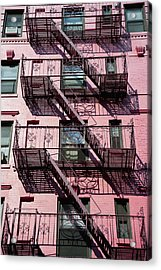 Fire Escape Acrylic Print by Axiom Photographic