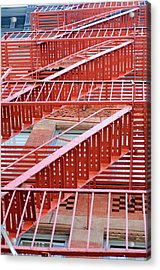 Fire Escape Acrylic Print by Copyright Eric Reichbaum