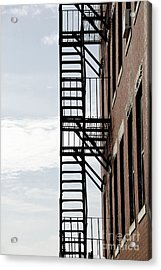 Fire Escape In Boston Acrylic Print by Elena Elisseeva