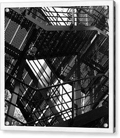 Fire Escape. #steel #construction Acrylic Print