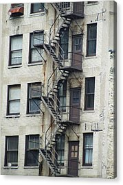 Fire Escape Acrylic Print by Todd Sherlock