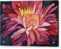 Acrylic Print featuring the painting Fire Floral by Teresa Beyer