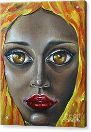 Fire Acrylic Print by Iglika Milcheva-Godfrey