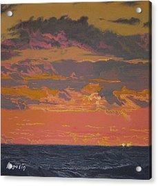 Fire In The Sky Acrylic Print by Harvey Rogosin