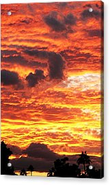 Fire In The Sky Acrylic Print by Louise Mingua