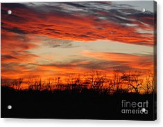 Acrylic Print featuring the photograph Fire In The Sky by Mark McReynolds