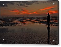Fire In The Sky Acrylic Print by Paul Scoullar