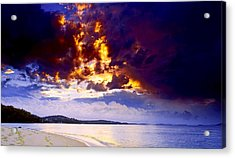 Acrylic Print featuring the photograph Fire In The Sky by Paul Svensen