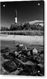 Fire Island In Black And White Acrylic Print by Rick Berk