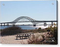 Fire Island Inlet Bridge Acrylic Print by Scenesational Photos