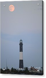 Fire Island Light House  Acrylic Print by Scenesational Photos
