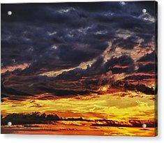 Fire Lake Acrylic Print by Skip Nall