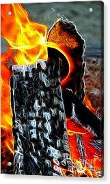 Fire Magic Acrylic Print by Mariola Bitner