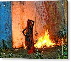 Fire Acrylic Print by Makarand Purohit