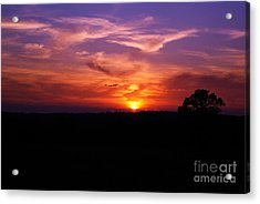 Acrylic Print featuring the photograph Fire Through The Storm by Julie Clements