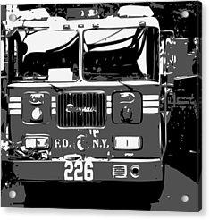 Fire Truck Bw3 Acrylic Print by Scott Kelley