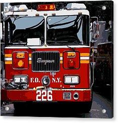 Fire Truck Color 16 Acrylic Print by Scott Kelley