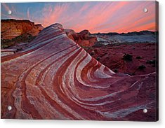 Fire Wave Acrylic Print by Guy Schmickle