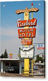 Firebird Motor Hotel Acrylic Print by Lawrence Burry