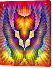 Firebird Acrylic Print by Visual Artist  Frank Bonilla