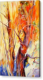 Acrylic Print featuring the painting Fireglow by Rae Andrews