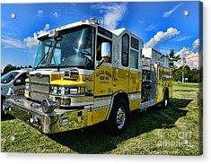 Fireman - Amwell Valley Fire Co. Acrylic Print by Paul Ward