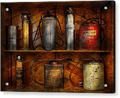Fireman - Fire Control Acrylic Print by Mike Savad