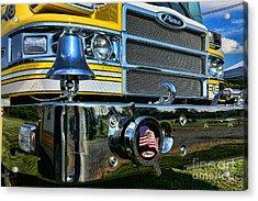 Fireman - Pierce Fire Truck Acrylic Print by Paul Ward