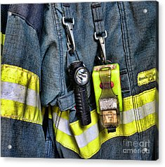 Fireman - The Fireman's Coat Acrylic Print by Paul Ward