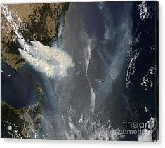 Fires And Smoke In Southeast Australia Acrylic Print by Stocktrek Images