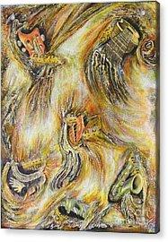 Fires Of Worship Acrylic Print by Lisa Golem