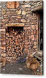 Firewood Acrylic Print by Tom Prendergast