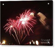 Firework Display Acrylic Print by Bernard Jaubert
