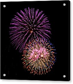 Firework Eyes Acrylic Print by Chris Anderson