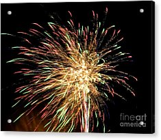 Firework Acrylic Print by Meandering Photography