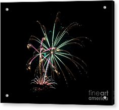 Acrylic Print featuring the photograph Fireworks 11 by Mark Dodd