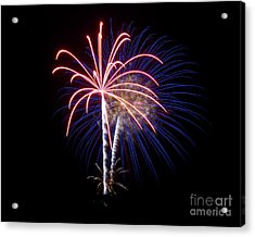 Acrylic Print featuring the photograph Fireworks 12 by Mark Dodd