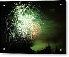 Fireworks 2 Acrylic Print by Donna Barker
