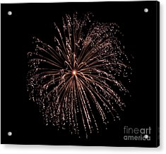 Acrylic Print featuring the photograph Fireworks 3 by Mark Dodd