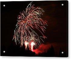 Fireworks 4 Acrylic Print by Donna Barker