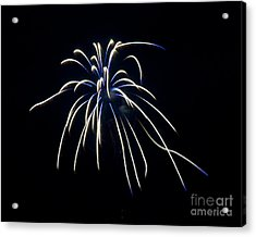 Acrylic Print featuring the photograph Fireworks 4 by Mark Dodd