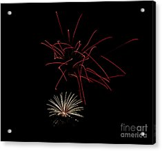Acrylic Print featuring the photograph Fireworks 6 by Mark Dodd