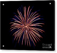 Acrylic Print featuring the photograph Fireworks 7 by Mark Dodd