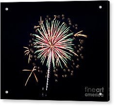 Acrylic Print featuring the photograph Fireworks 9 by Mark Dodd