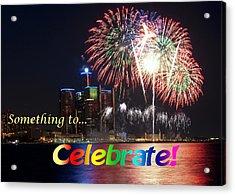 Fireworks Card Acrylic Print