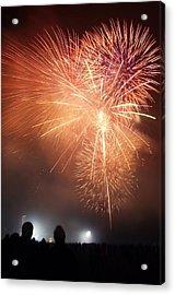 Fireworks Display Acrylic Print by Cordelia Molloy