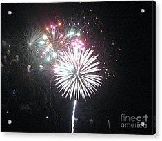 Fireworks Acrylic Print by Dyana Rzentkowski