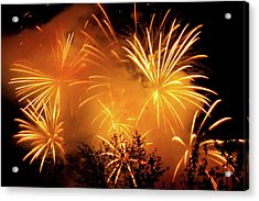 Fireworks Finale Acrylic Print by Stanley French