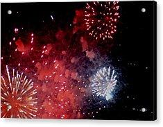 Fireworks II Acrylic Print by Kelly Hazel