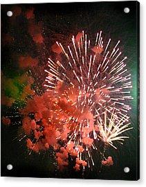 Fireworks Acrylic Print by Kelly Hazel